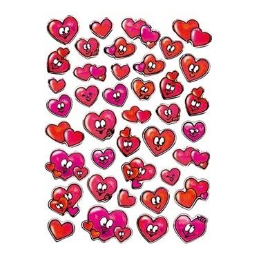 Herma Etiket Gülen Kalpler Paketi Renkli